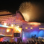 MSC SPLENDIDA - Fireworks at Christening