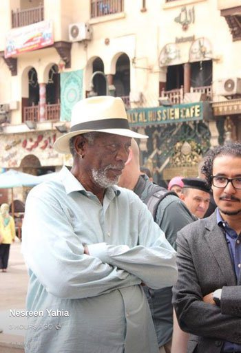 Actor Morgan Freeman în Egipt 6